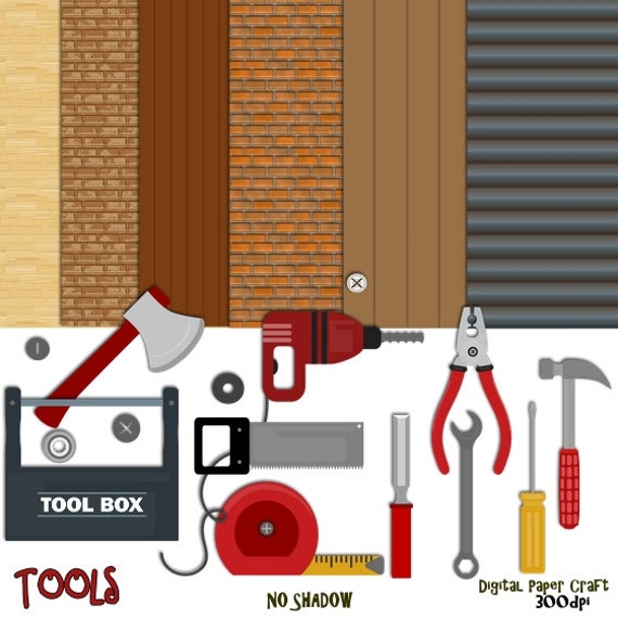 Tools Clipart Woodwork Clipart Tool Paper Building Clipart Etsy