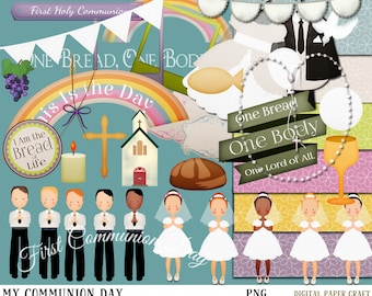 Communion Clipart, Communion Printables, Newsletter clipart, Instant download, Christian Clipart, first communion clipart