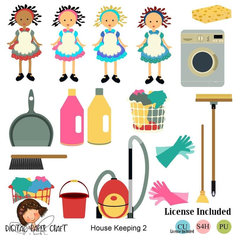 Reinigungsclipart Hausarbeit Clipart Chore Clipart Etsy
