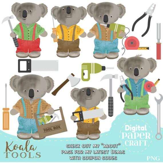 Koala Clipart Holz Arbeit Clipart Werkzeug Clipart Etsy