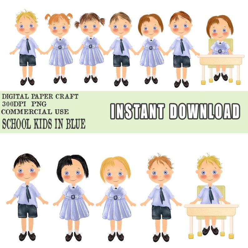 Uniform Clipart Student Clipart Instant download,School Clipart Newsletter Clipart Class Clipart Educational Clipart, Children Clipart