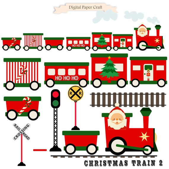 christmas train train clipart christmas clipart instant download rh etsystudio com Christmas Toy Train christmas train clipart free