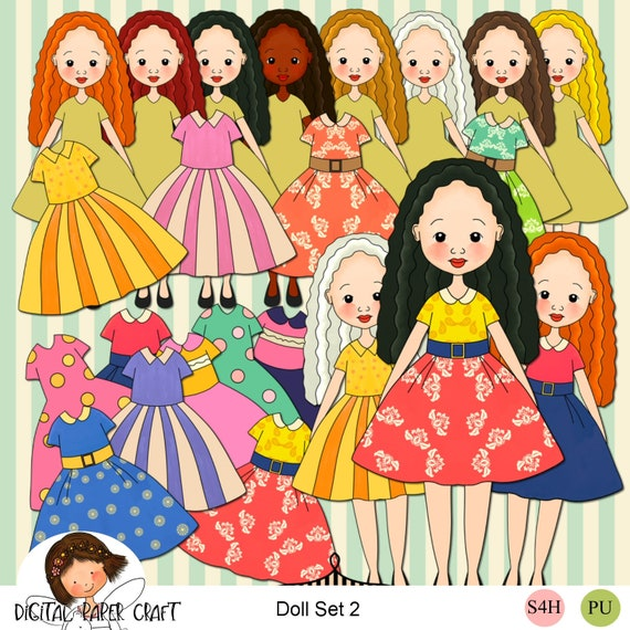 photo relating to Paper Doll Printable named Paper doll clipart, Wavy Hair doll, Reduce out Doll, Printable doll, Instantaneous down load, Childrens video game,