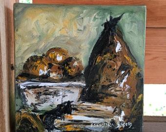 Original Still Life Painting, Pears