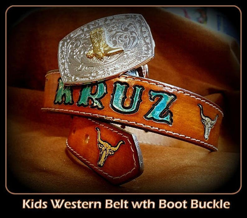 a6f454747d4 Child s Western Name Belt Handmade Infant to Size 12