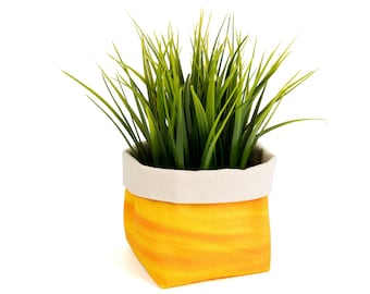Planter - Flaming Sunset. Textile succulent plant pot storage basket house warming gift storage bucket fabric bin indoor plant. CHR-FLM