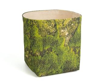 Planter - Moss. Textile succulent plant pot storage basket house warming gift storage bucket fabric bin indoor plant. CHR-MOS