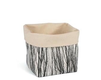 Planter - Naked Poplars. Textile succulent plant pot storage basket house warming gift storage bucket fabric bin indoor plant. CHR-NKD