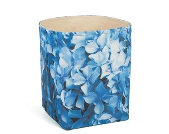 Planter - Hydrangea. Textile succulent plant pot storage basket house warming gift storage bucket fabric bin indoor plant. CHR-HYD