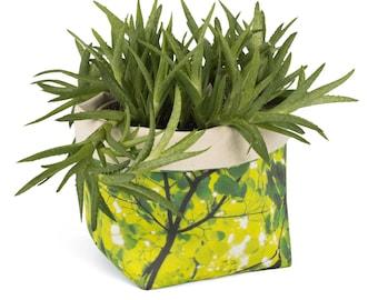 Planter - Imagine. Textile succulent plant pot storage basket house warming gift storage bucket fabric bin indoor plant. CHR-IMG
