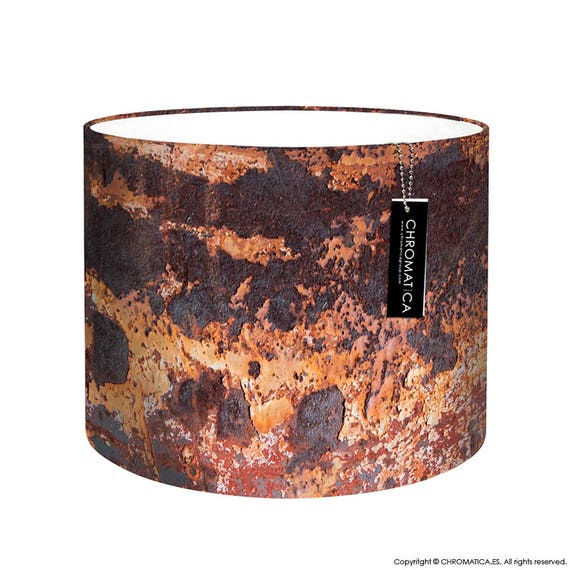Lamp Shade - Oxide  Photography lampshade, industrial, rust, orange, brown   CHR-OXD