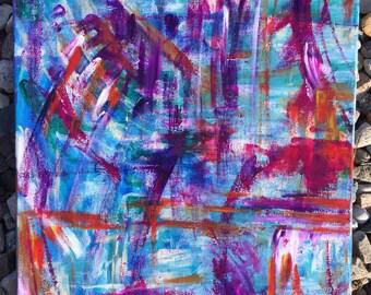 Colorful abstract art- original abstract painting- original canvas art- colorful modern home- colorful contemporary art- original art