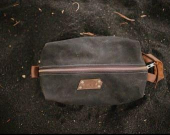 Waxed canvas bag, Toiletry Bag, Dopp Kit, Travel Bag, fd3d1cd382