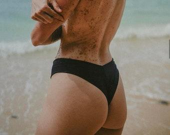 CUSTOM BLACK HINA + Mahina Seamless Bikini Bottom