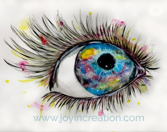 Stars in her Eyes high quality print