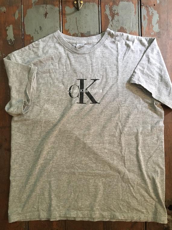 90s Calvin Klein Jeans Spell Out tshirt. Vintage Calvin Klein.