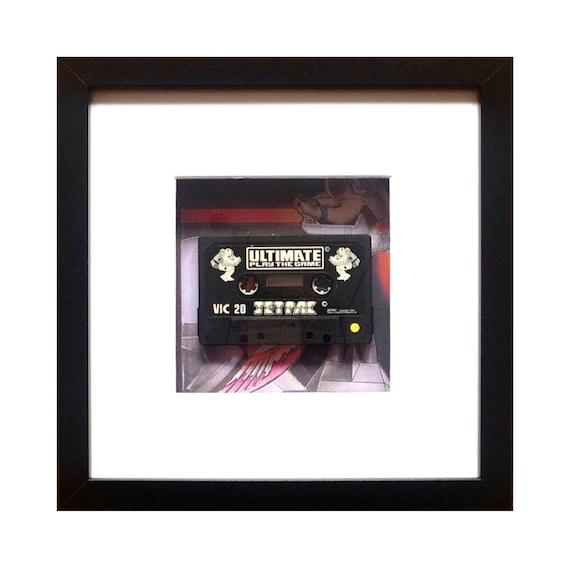 Jet pac Game Vic 20 Cassette Framed Wall Art