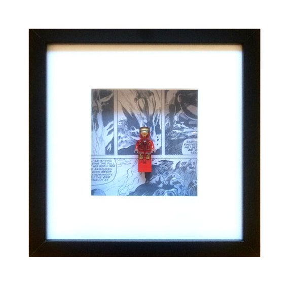 Transparent Ironman Mini Figure Framed Superhero Wall Art- Fathers Day Gift Present
