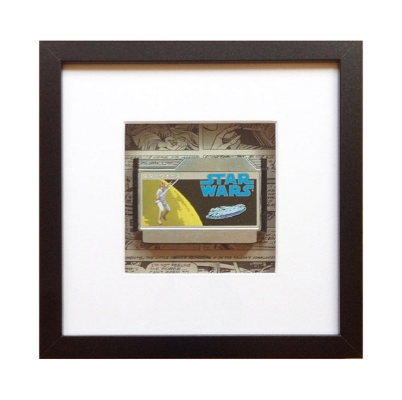 Star Wars Famicom Game Framed Wall Art- Fathers Day Gift Present