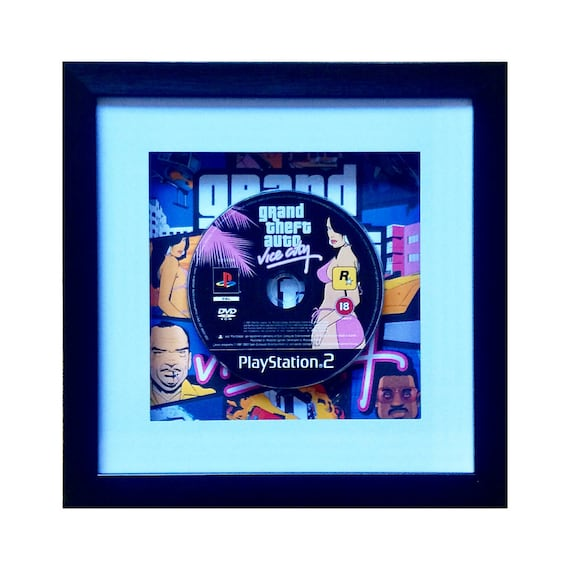 Grand Theft Auto Vice City Playstation 2 Game Framed Wall Art
