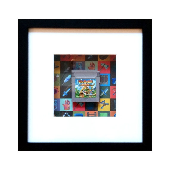 The Legend of Zelda - Links Awakening Japanese Version Game Boy Cart Framed Wall Art- Fathers Day Gift Present
