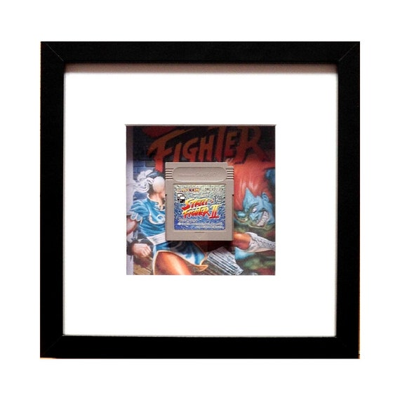 Street Fighter 2 Gameboy Game Cart Framed Wall Art- Fathers Day Gift Present