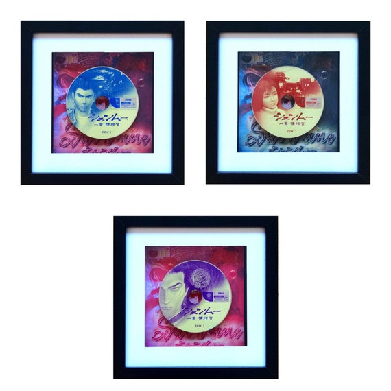 Japanese Shenmue 1, 2 & 3 Dreamcast Game Wall Art Set- Fathers Day Gift Present