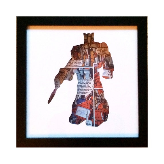Jazz Silhouette Wall Art - Transformers Autobots