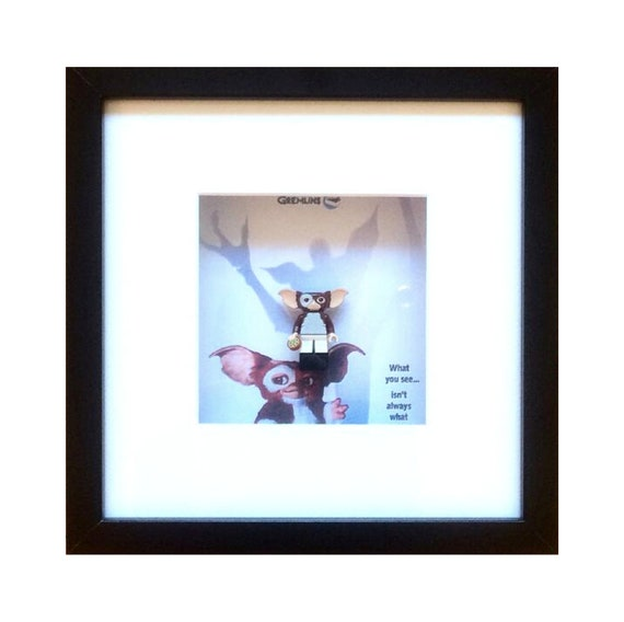 Gizmo from the Gremlins Minifigure Framed Wall Art- Fathers Day Gift Present