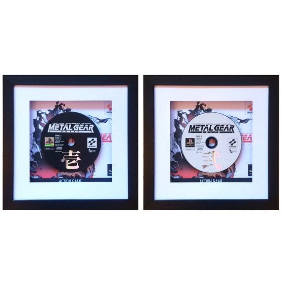 Japanese Playstation Metal Gear Solid Set Game Disc Framed Wall Art