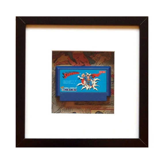 Superman Famicom Game Framed Wall Art- Fathers Day Gift Present