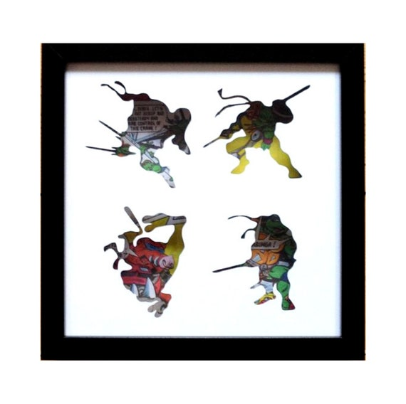 Teenage Mutant Ninja Turtles Silhouette Wall Art- Fathers Day Gift Present