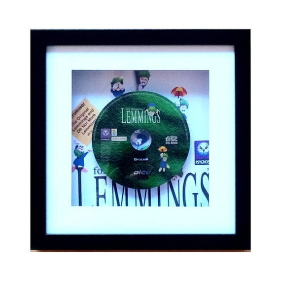 Lemmings PC Game Framed Wall Art- Fathers Day Gift Present