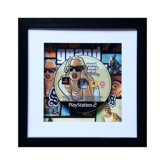 Grand Theft Auto San Andreas Playstation 2 Game Framed Wall Art