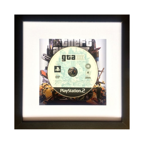 Grand Theft Auto 3 Playstation 2 Game Framed Wall Art