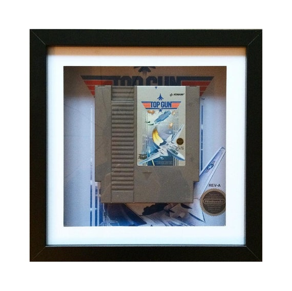 Topgun NTSC NES Game Cart Framed Wall Art- Fathers Day Gift Present