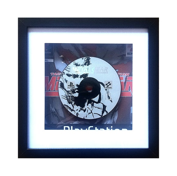 Metal Gear Solid Playstation Game Disc 1 Framed Wall Art