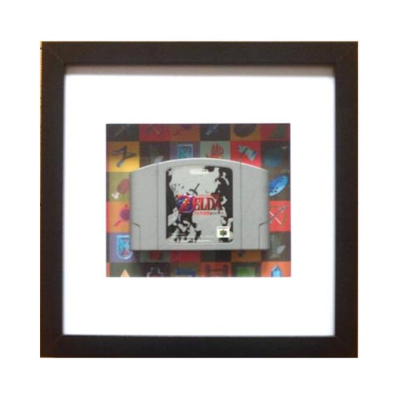 The Legend Of Zelda - Ocarina Of Time Japanese N64 Game Cart Framed Wall Art- Fathers Day Gift Present