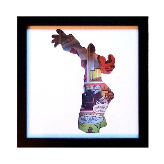 Ironhide Silhouette Wall Art - Transformers Autobots