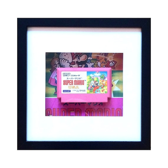 Super Mario USA Famicom Japanese Game Framed Wall Art- Fathers Day Gift Present