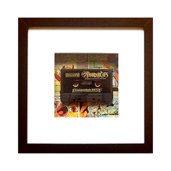 Thundercats Game C64 Cassette Framed Wall Art- Fathers Day Gift Present
