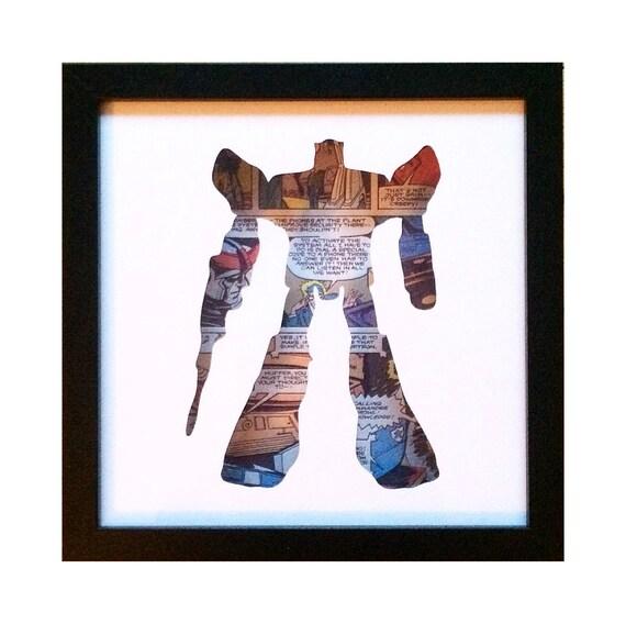 Prowl Silhouette Wall Art - Transformers Autobots