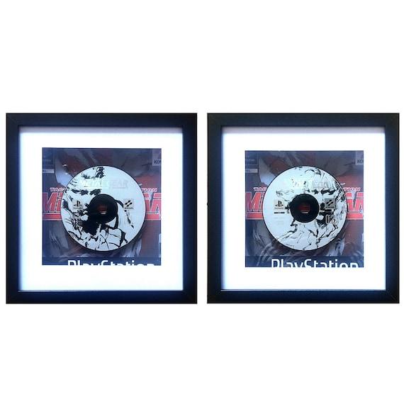 Metal Gear Solid Playstation Game Disc 1 & 2 Set Framed Wall Art