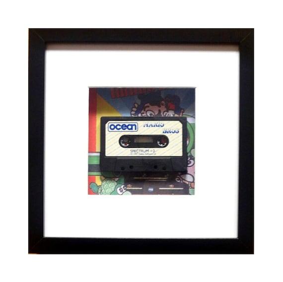 Mario Bros Game Spectrum Cassette Framed Wall Art