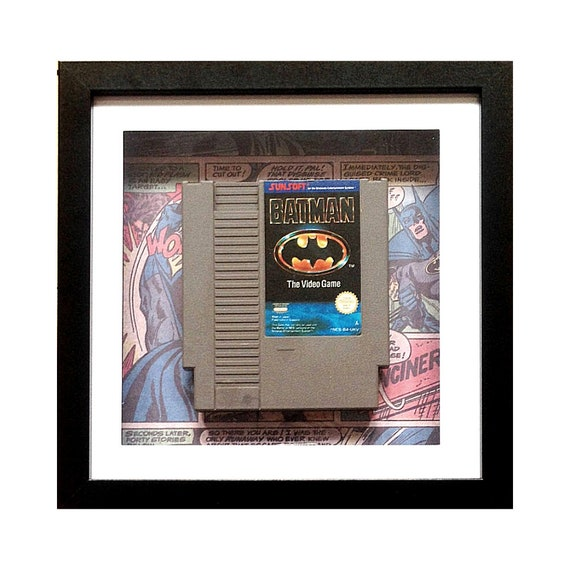 Batman NES Game Cart Framed Wall Art- Fathers Day Gift Present