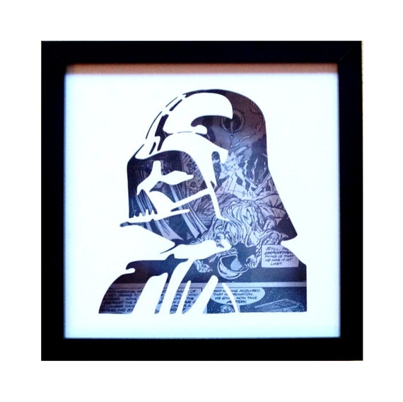 Darth Vader Silhouette Wall Art- Fathers Day Gift Present