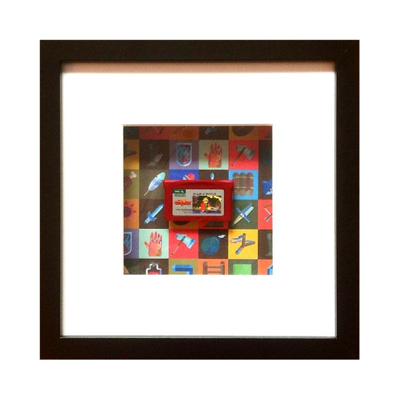 Japanese The Legend of Zelda Gameboy Advance Cart Framed Wall Art- Fathers Day Gift Present
