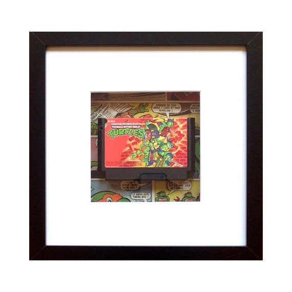 Teenage Mutant Ninja Turtles Famicom Game Framed Wall Art- Fathers Day Gift Present