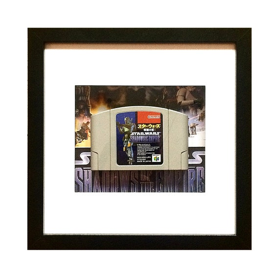 Star Wars Shadows of the Empire Japanese N64 Game Cart Framed Wall Art- Fathers Day Gift Present