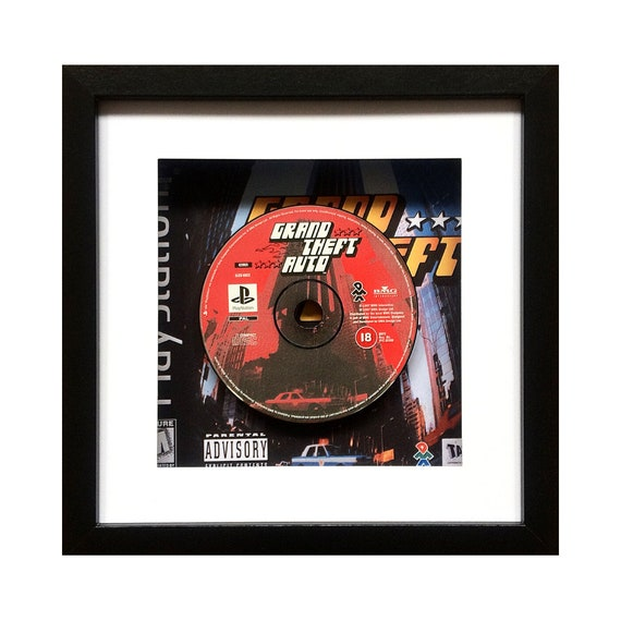 Grand Theft Auto Playstation Game Framed Wall Art